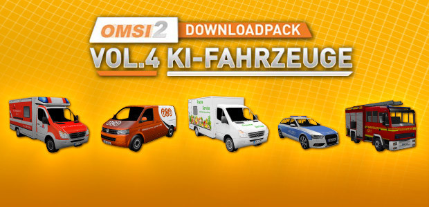 OMSI 2 Add-on Downloadpack Vol. 4 - KI-Fahrzeuge - Cover / Packshot