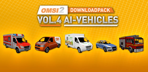OMSI 2 Downloadpack Vol. 4 - AI-Vehicles - Cover / Packshot