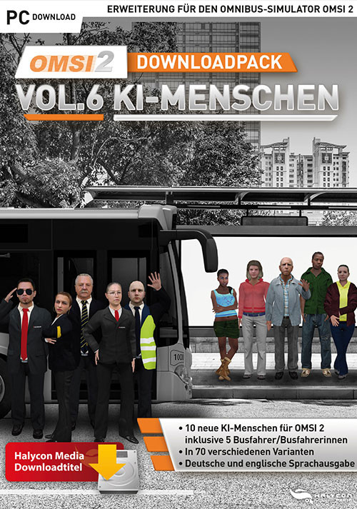 OMSI 2 Add-on Downloadpack Vol.6 - KI-Menschen - Cover / Packshot
