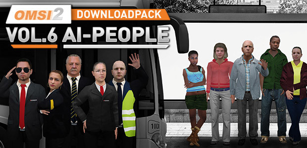 OMSI 2 Downloadpack Vol. 6 - AI-People - Cover / Packshot