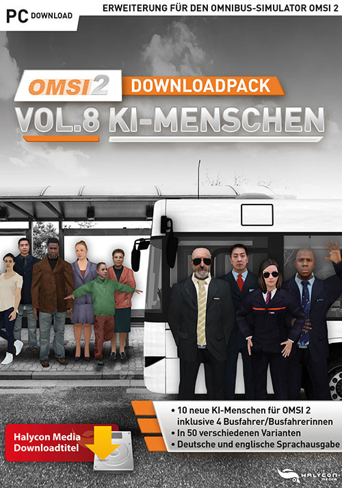 OMSI 2 Downloadpack Vol. 8 - KI-Menschen - Cover / Packshot