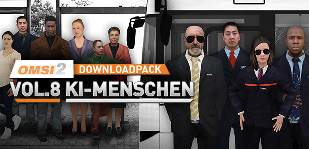 OMSI 2 Downloadpack Vol. 8 - KI-Menschen - Cover / Packshot
