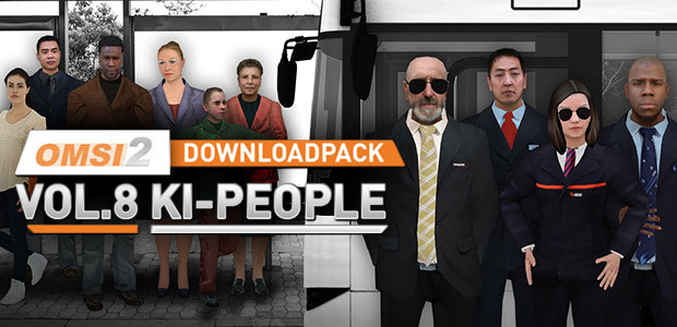 OMSI 2 Downloadpack Vol. 8 - AI people - Cover / Packshot
