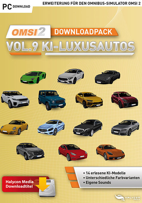 OMSI 2 Add-on Downloadpack Vol. 9 – KI-Luxusautos - Cover / Packshot