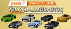 OMSI 2 Add-on Downloadpack Vol. 9 – KI-Luxusautos