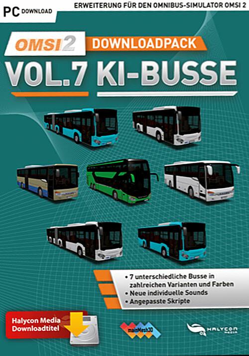 OMSI 2 Downloadpack Vol. 7 - KI-Busse - Cover / Packshot