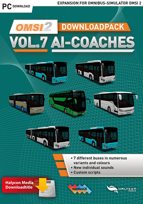 OMSI 2 Downloadpack Vol. 7 - AI Coaches - Cover / Packshot