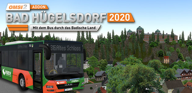 OMSI 2 Add-on Bad Hügelsdorf 2020 - Cover / Packshot