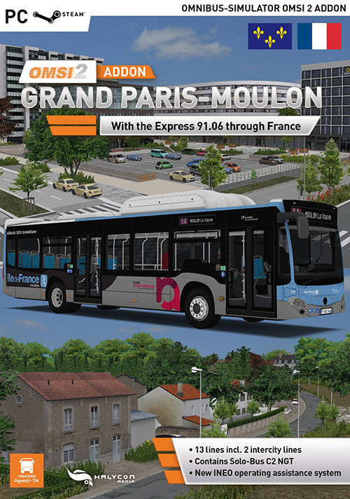 OMSI 2 Add-on Grand Paris-Moulon - Cover / Packshot