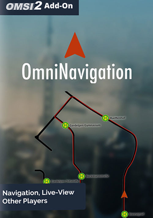 OMSI 2 Add-on OmniNavigation - Cover / Packshot