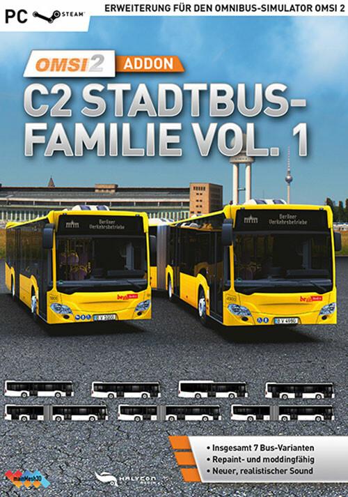 OMSI 2 Add-On C2-Stadtbus-Familie Vol. 1 - Cover / Packshot