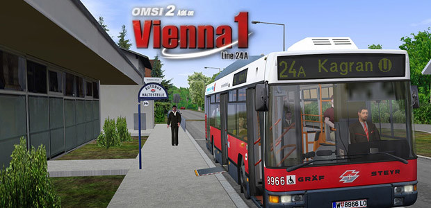 OMSI 2 Add-on Vienna 1 - Line 24A - Cover / Packshot