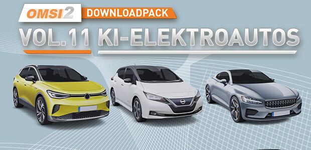 OMSI 2 Add-on Downloadpack Vol. 11 – KI-Elektroautos - Cover / Packshot