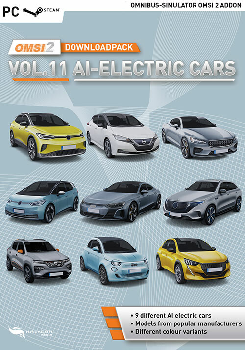 OMSI 2 Add-on Downloadpack Vol. 11 - AI-Electric Cars - Cover / Packshot