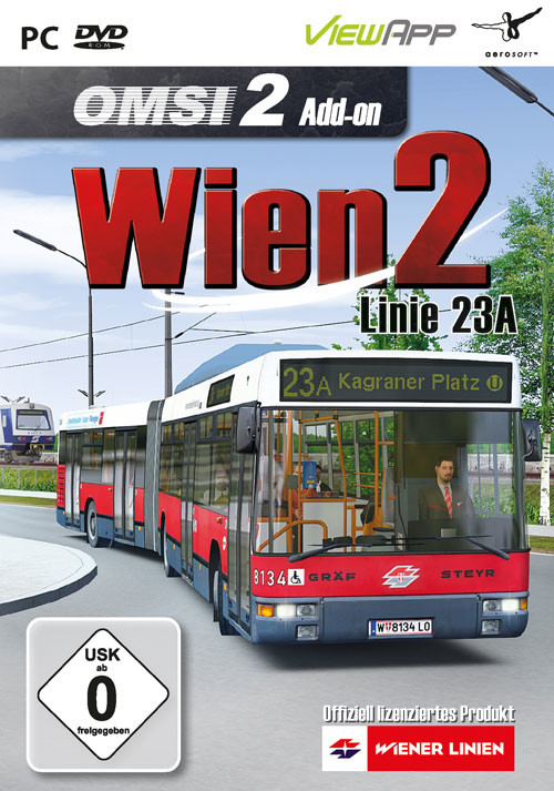 OMSI 2 Add-on Vienna 2 - Line 23A - Cover / Packshot