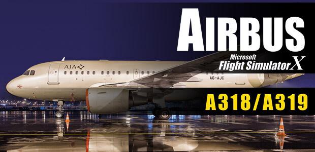 Microsoft Flight Simulator X: Airbus A318/A319 - Cover / Packshot