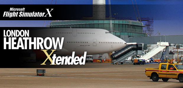 Microsoft Flight Simulator X: Mega Airport London Heathrow Xtended - Cover / Packshot