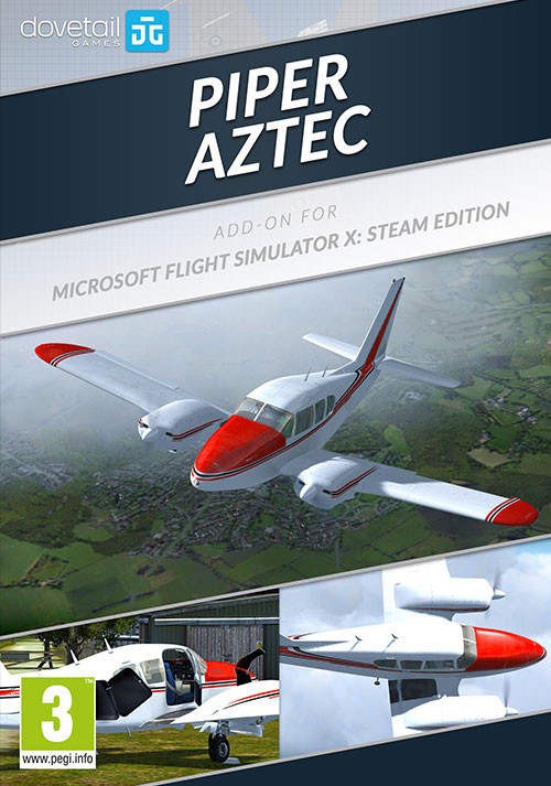 Microsoft Flight Simulator X: Steam Edition - Piper Aztec Add-On - Cover / Packshot