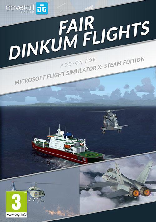 Microsoft Flight Simulator X: Steam Edition - Fair Dinkum Flights Add-On  - Cover