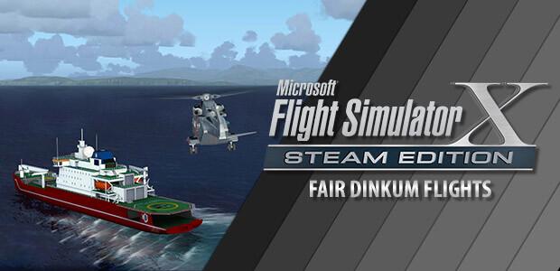 Microsoft Flight Simulator X: Steam Edition - Fair Dinkum Flights Add-On  - Cover / Packshot