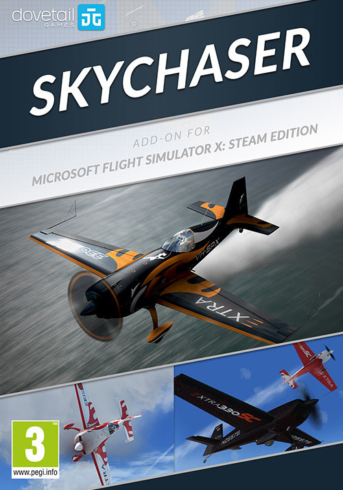 Microsoft Flight Simulator X: Steam Edition: Skychaser Add-On - Cover / Packshot