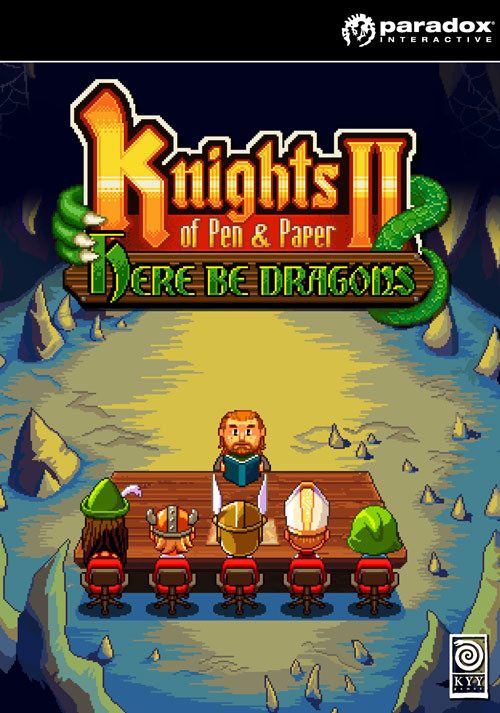Knights of Pen & Paper 2 - Here Be Dragons - Cover / Packshot