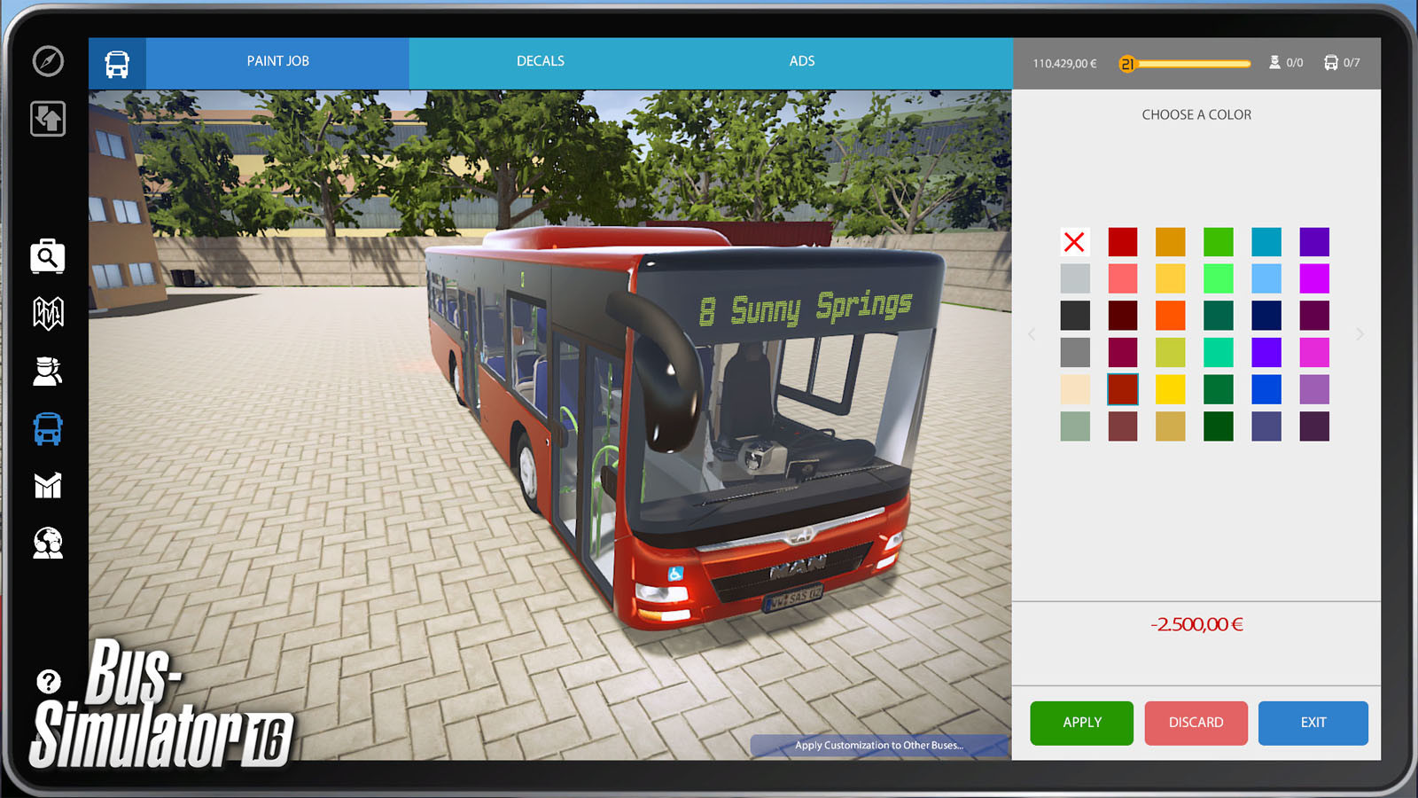 bus simulator 16 man lion s city a47 m dlc 1 steam cd. Black Bedroom Furniture Sets. Home Design Ideas