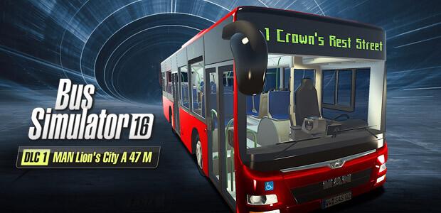 Bus Simulator 16: MAN Lion´s City A47 M DLC 1 - Cover / Packshot