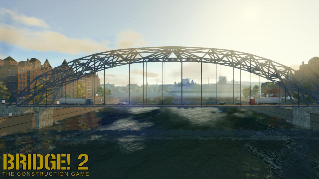 Free bridge construction game