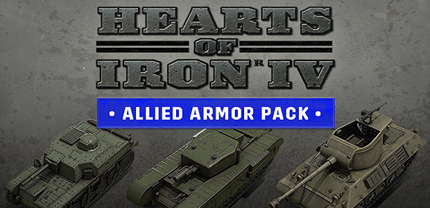 Hearts of Iron IV: Allied Armor Pack - Cover / Packshot