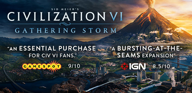 Sid Meier's Civilization VI: Gathering Storm [Steam CD Key] for PC - Buy now