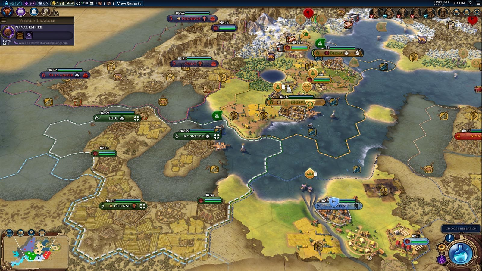carte europe civilization 6