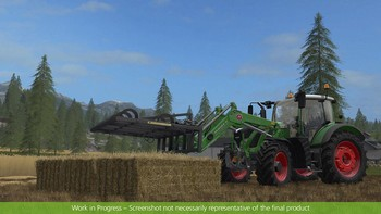 Screenshot5 - Farming Simulator 17 - Add-On Récolte de paille