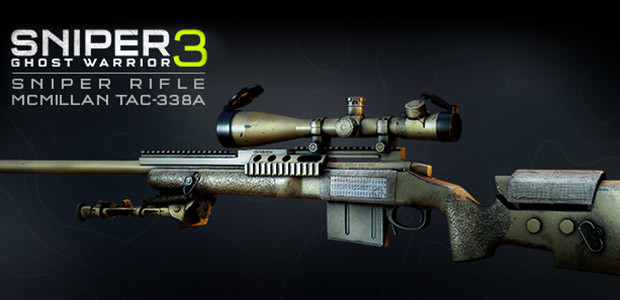 Sniper Ghost Warrior 3 - Sniper Rifle McMillan TAC-338A - Cover / Packshot