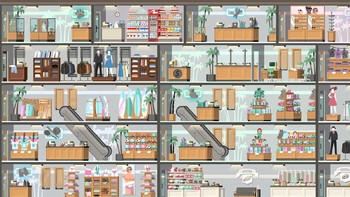Screenshot1 - Project Highrise: Miami Malls