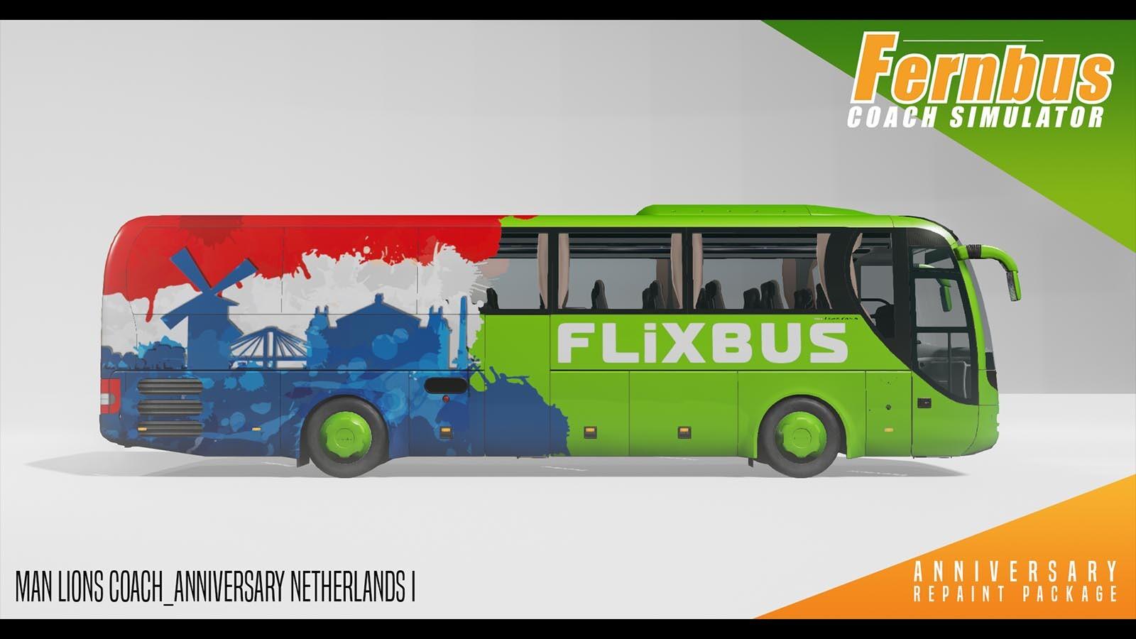 Fernbus Simulator Anniversary Repaint Package Steam Cd