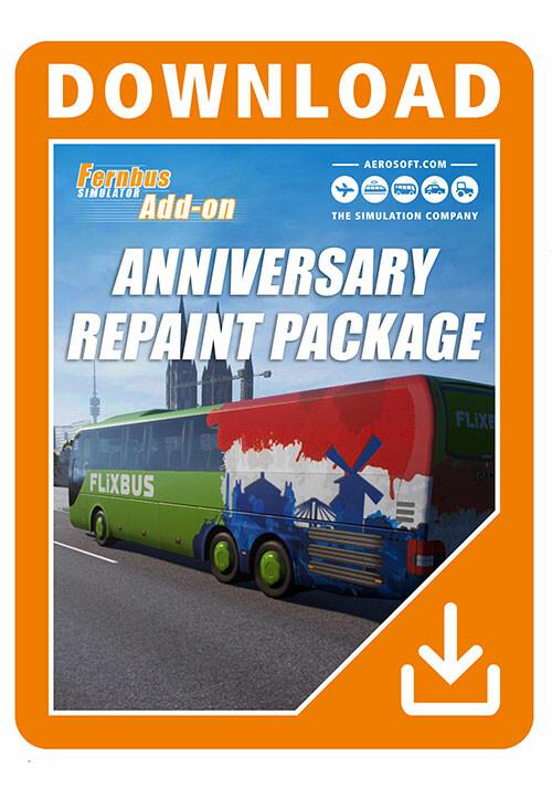 Fernbus Simulator - Anniversary Repaint Package - Cover / Packshot