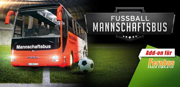 Fernbus Simulator Add-on - Fussball Mannschaftsbus - Cover / Packshot