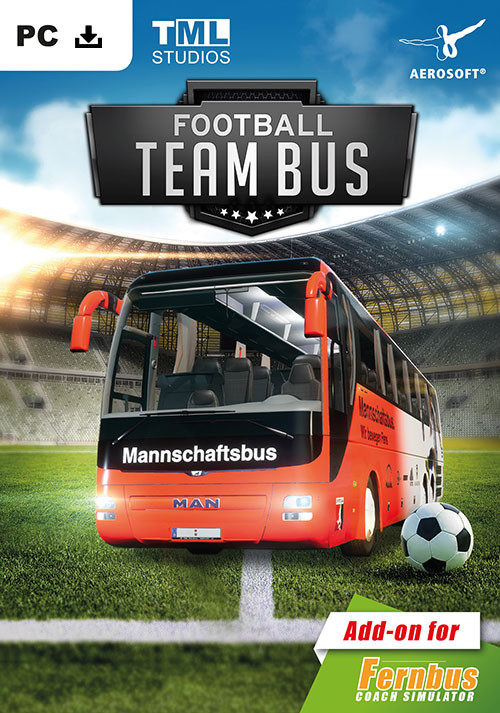 Fernbus Coach Simulator Add-on - Football Team Bus - Cover / Packshot
