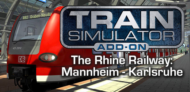 Train Simulator: The Rhine Railway: Mannheim - Karlsruhe Route Add-On - Cover / Packshot