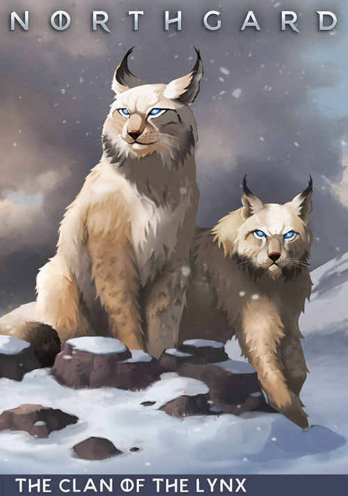 Northgard - Brundr & Kaelinn, Clan of the Lynx - Cover / Packshot