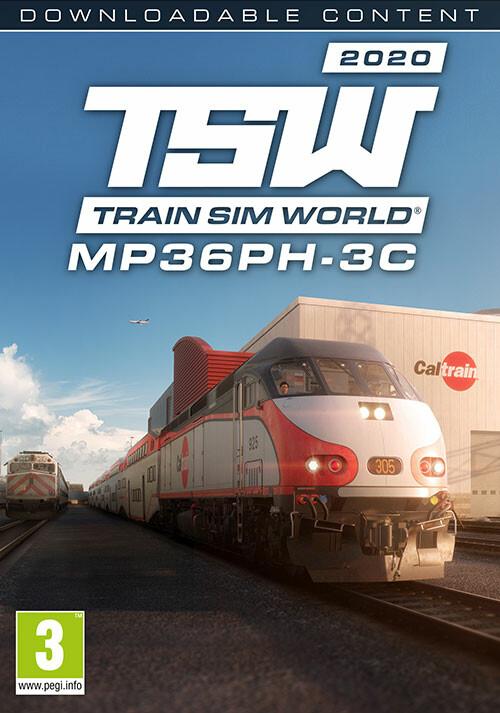 Train Sim World®: Caltrain MP36PH-3C 'Baby Bullet' Loco Add-On - Cover / Packshot