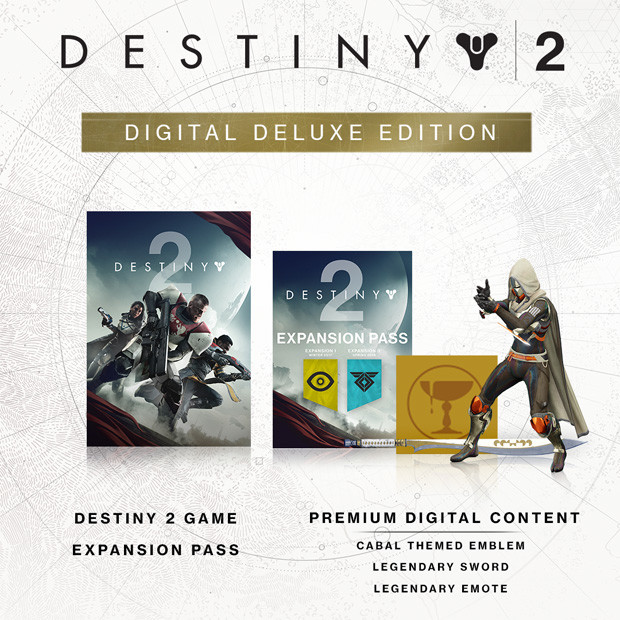 Destiny 2 Digital Deluxe Content