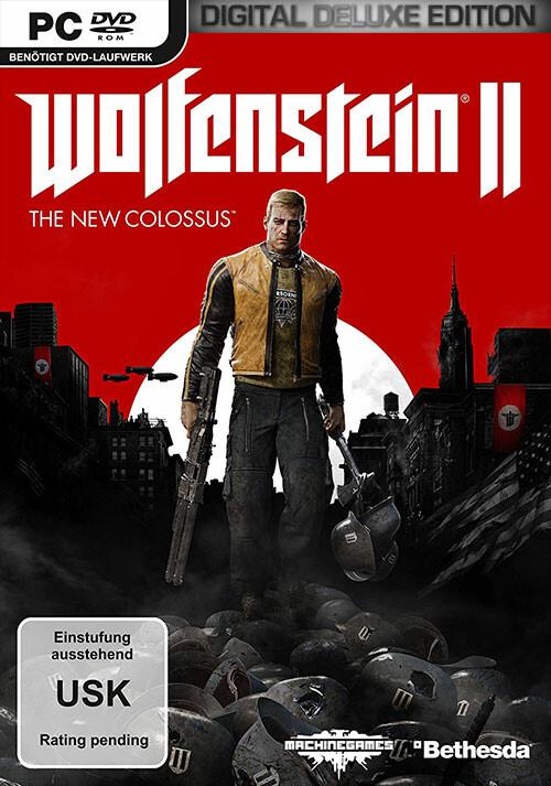 Wolfenstein II: The New Colossus - Digital Deluxe [USK DE Version] - Cover / Packshot