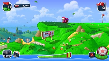 Screenshot1 - Worms Crazy Golf