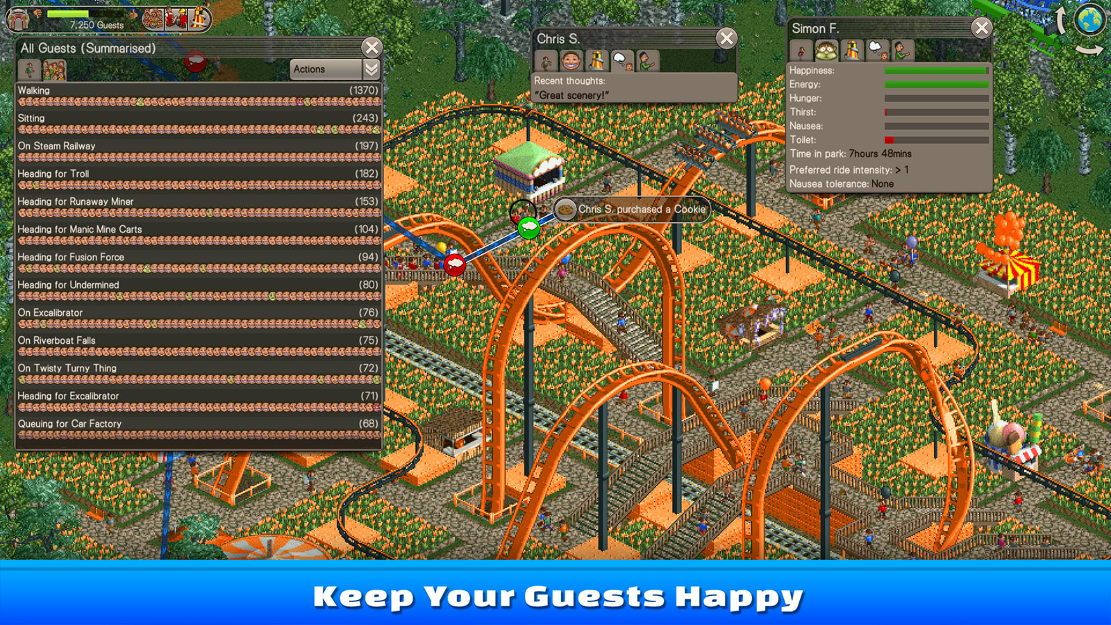 RollerCoaster Tycoon Classic [Steam CD Key] for PC and Mac - Buy now