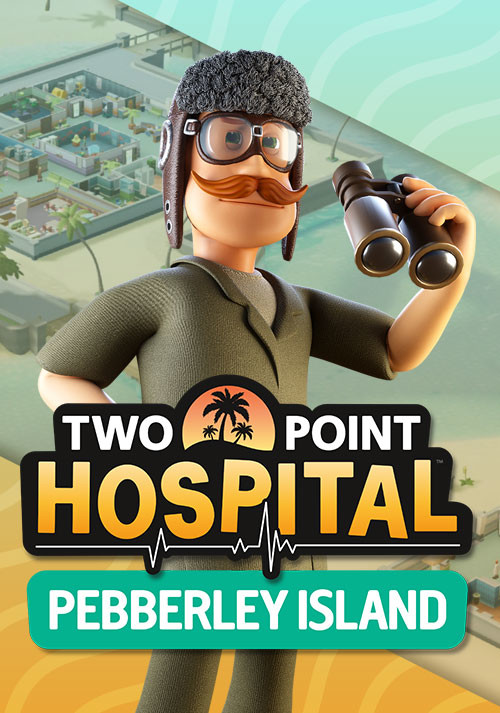 Two Point Hospital: Pebberley Island - Cover / Packshot