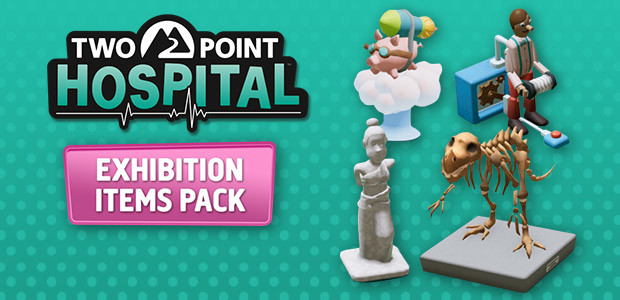 Two Point Hospital: Exhibition Items Pack - Cover / Packshot