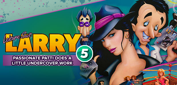 Leisure Suit Larry 5 - Passionate Patti Does a Little Undercover Work - Cover / Packshot