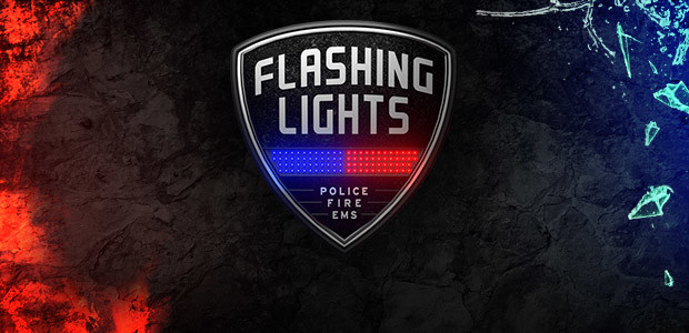 Flashing Lights - Police, Fire, EMS - Cover / Packshot